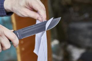 Проверка ножа после заточки