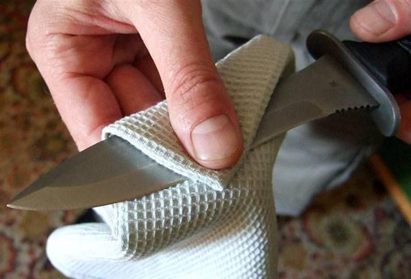 Удаление ржавщины с ножа