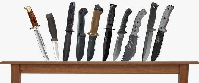 Ножи разных видов