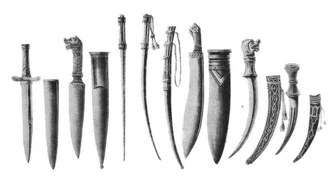 Разновидности подсайдашных ножей