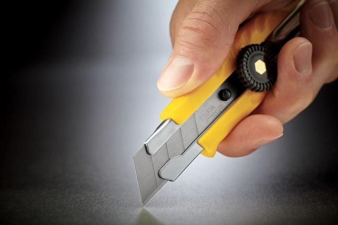 Применение канцелярского ножа