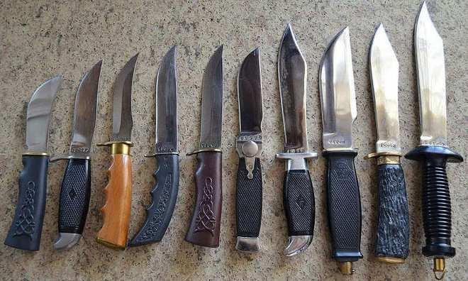 Ножи с разной конструкцией