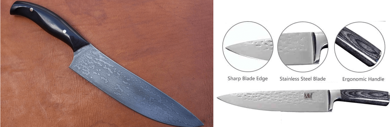 Составные элементы ножа