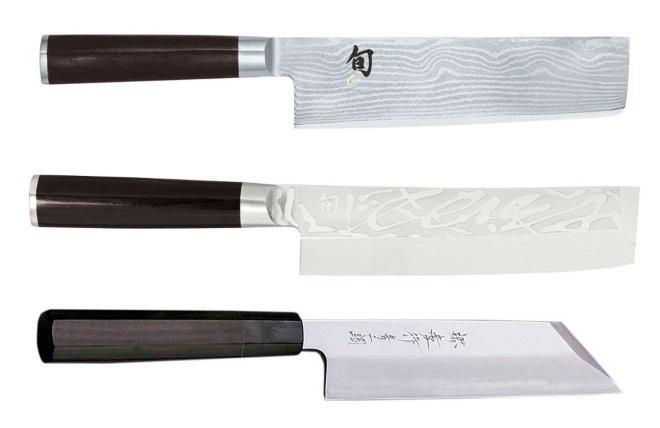 Три ножа Накири ботё современный вид