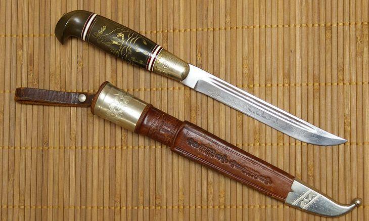 Коллекционный финский охотничий нож