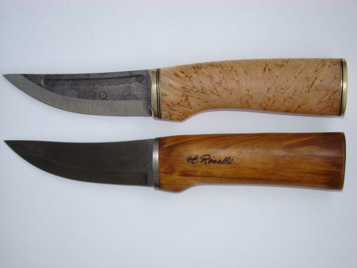 Нож Пуукко от компании Розелли в двух вариантах