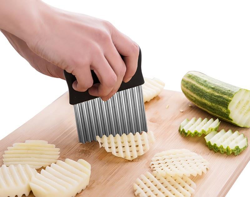Нож слайсер для нарезки картофеля