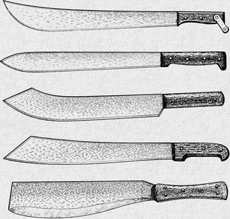 Формы ножей
