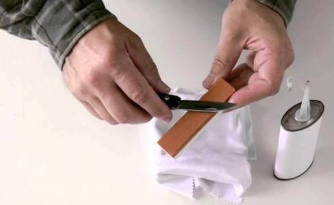 Заточка прививочного ножа
