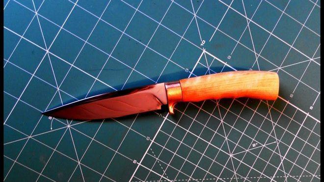 Нож грибника самодельный