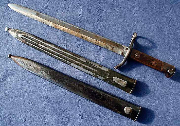 Финский штык нож для винтовок Мосина 1927 г с ножнами