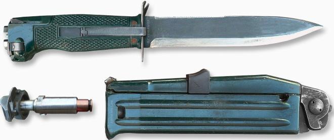 Нож НРС в разобранном виде