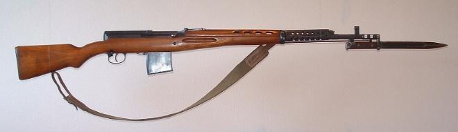 Винтовка Токарева СВТ 40 со штык ножом