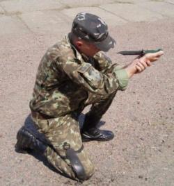 Стойка при выстреле из ножа НРС