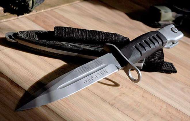 Экспериментальный штык нож Шмель