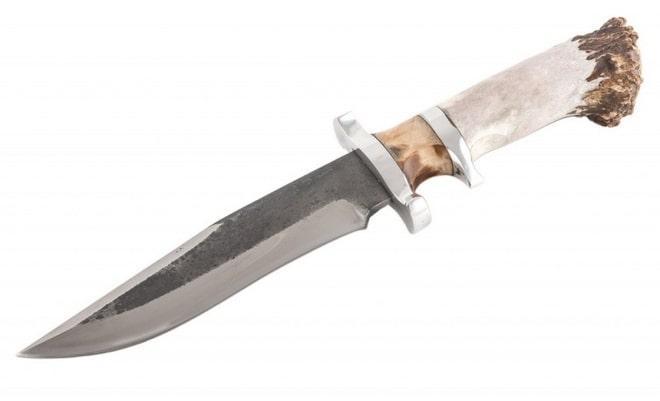 Нож Боуи с рукоятью из кости животного