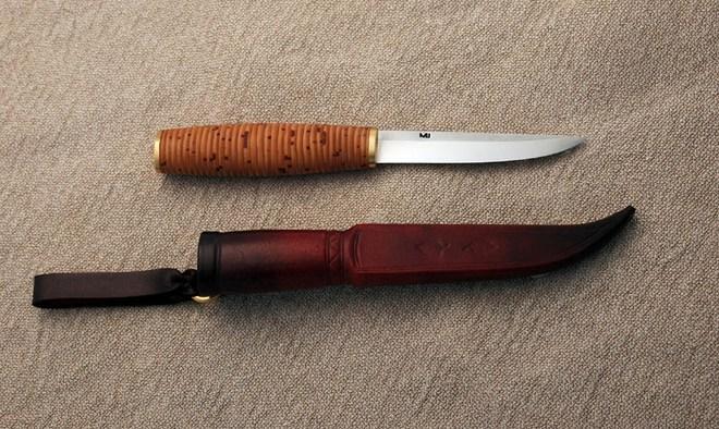 Ручка ножа из бересты