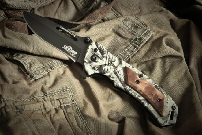 Складной нож Target Black сталь 5Cr15mov