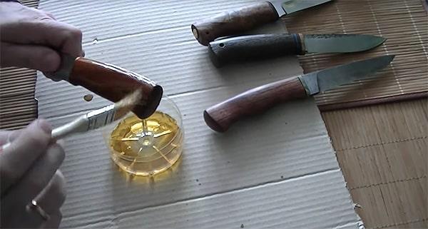 Пропитка рукоятки ножа