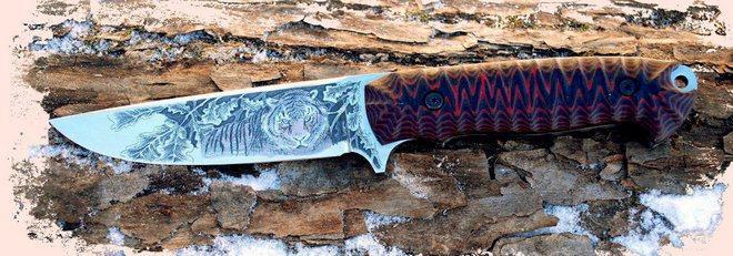 Нож с рисунком