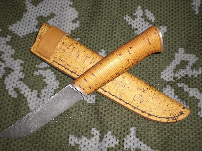 Ножны для ножа из бересты