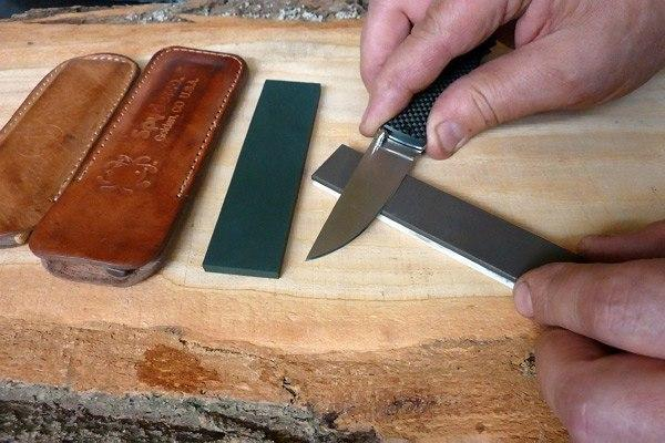 Заточка ножа из булатной стали