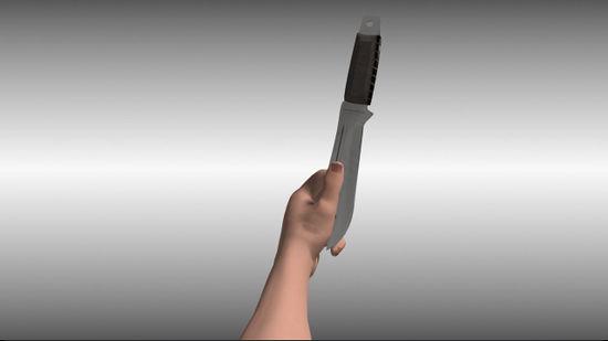Метание ножа рукояткой вперед