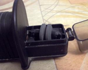 Точилка Икеа с открытым пластиковым чехлом
