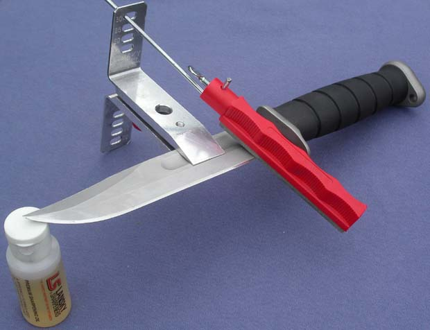 Точилка Lansky с ножом и маслом