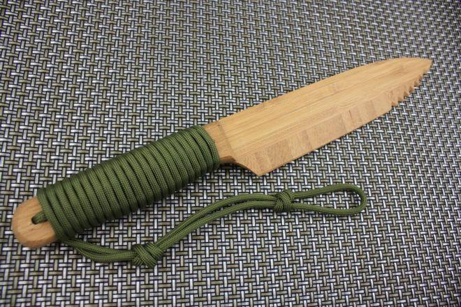 Ручка ножа из веревки