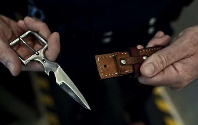 Нож пряжка для ремня