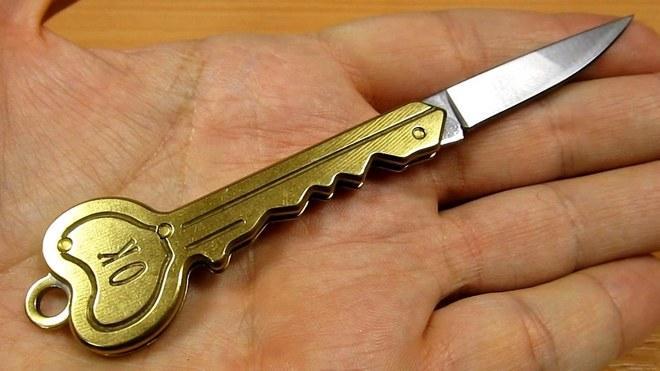 Нестандартный нож формы ключа