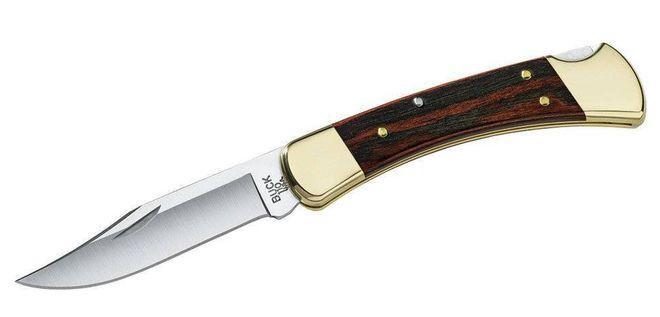 Складной нож бак 110 с латунными вставками на рукояти
