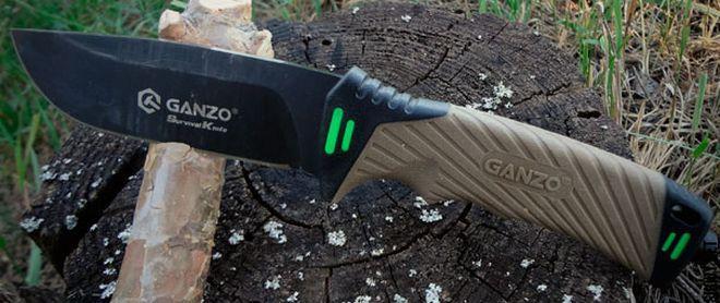 Поцарапанное антибликовое покрытие на клинке ножа Ganzo G8012
