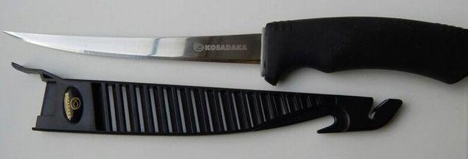 Косадака нож филейный с пластиковыми ножнами