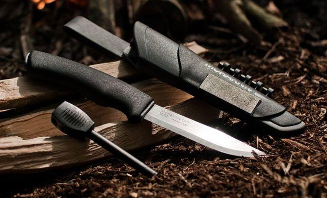 Нож Morakniv Bushcraft Survival с ножнами и огнивом