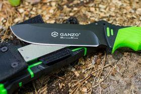 Нож Ganzo G8012 с точильным бруском на ножнах