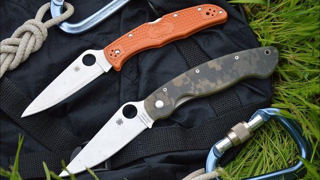 Два ножа Spyderco Military