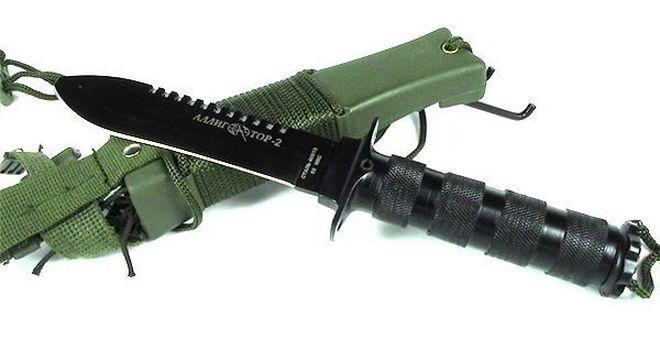 Аллигатор 2 нож с ножнами