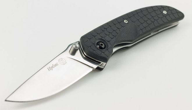 Ирбис Нож спуски от обуха и выемка на рукояти