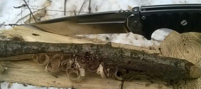 Рез по дереву ножом Кугуар