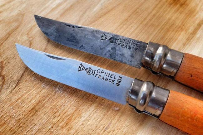 Ножи из углеродистой и нержавеющей стали.