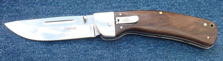 Рукоять ножа Стриж с деревянными накладками