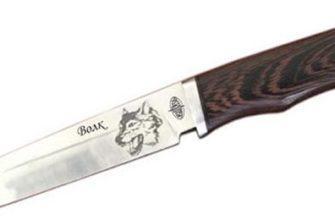 Нож Волк сталь 65х13 с травлением на клинке