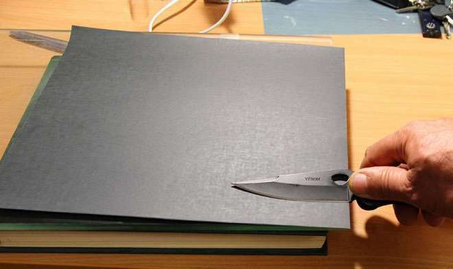 как заточить нож наждачкой.