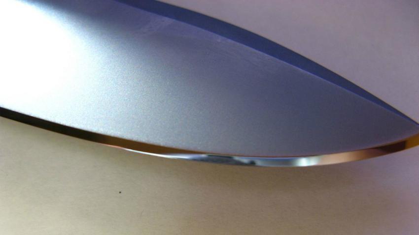 заточка ножа в линзу.