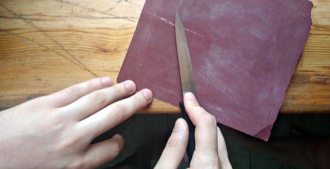 как наточить нож бумагой.