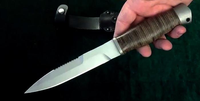 Нож из стали 70х16МФС.