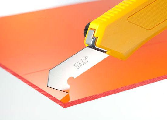каким ножом резать пластик.