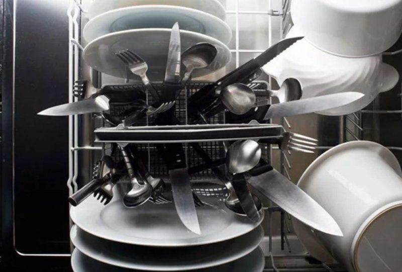 как мыть ножи в посудомойке.